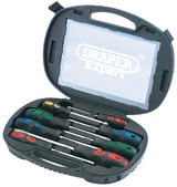 Draper 40002 970/8 Expert 8 Piece Screwdriver Set In Case