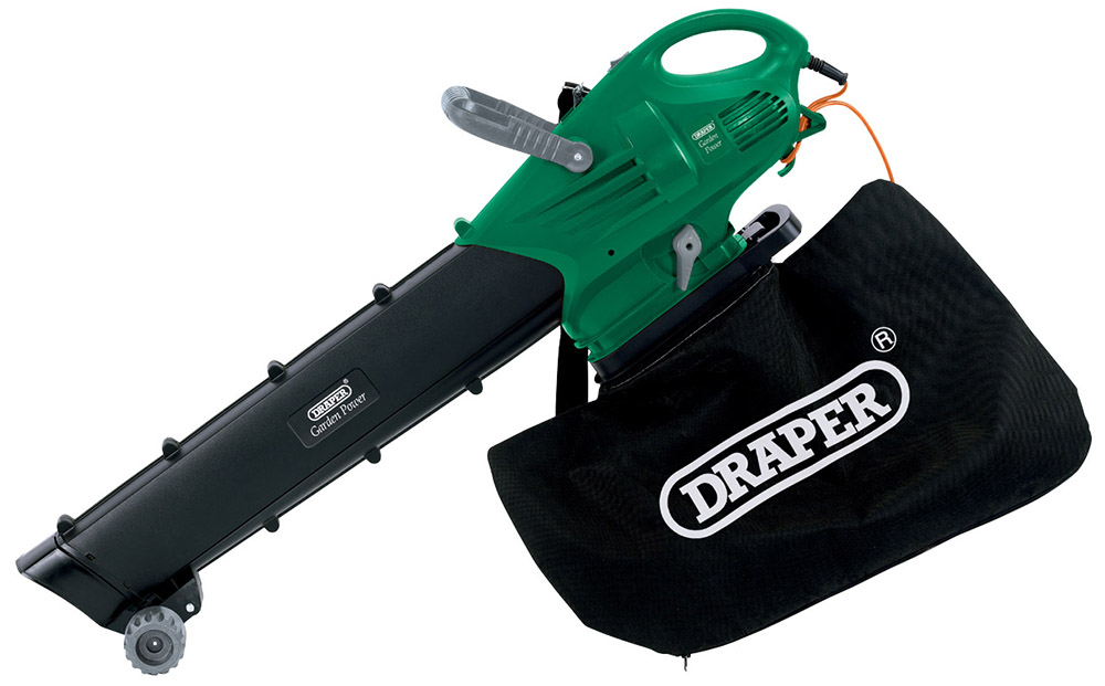 Electric Leaf Blower Vacuum : Draper powerful electric garden vacuum blower mulcher