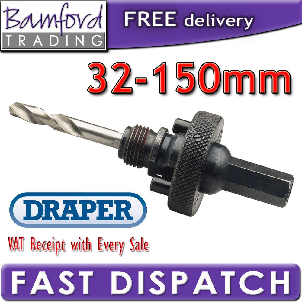DRAPER 56402 EXPERT BI METAL HOLESAW ARBOR 32MM - 150MM Enlarged Preview