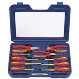 Draper 71155 VDESET1 Expert 10Pc VDE Insulated Plier & Screwdriver Set