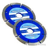 2 Silverline 807350 Mortar Raking Angle Grinder Discs