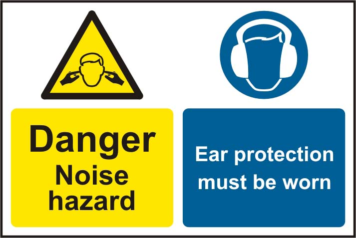 Caution Noise Hazard Ear Protection Must Be Worn S