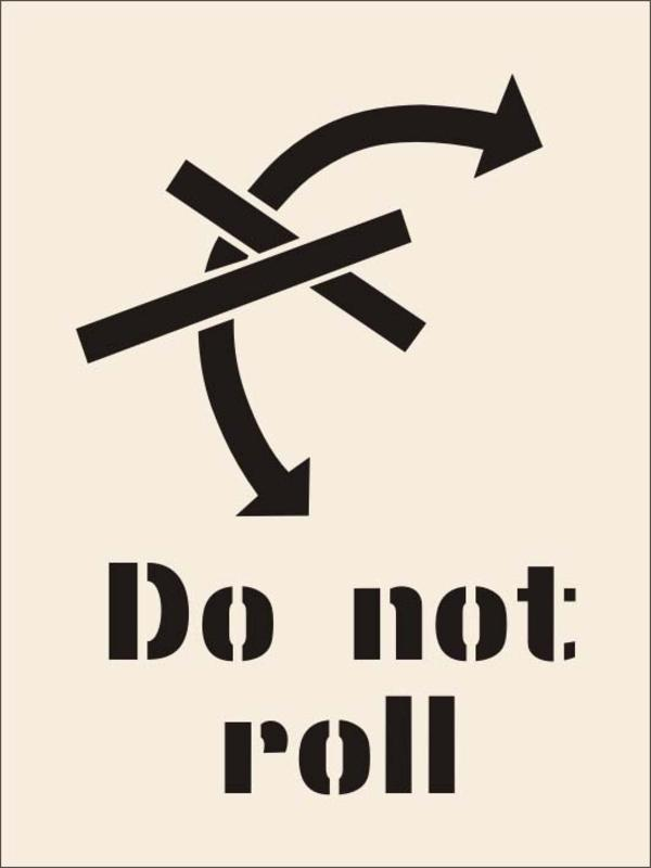 Product image for Do Not Roll Stencil (600 x 800mm)