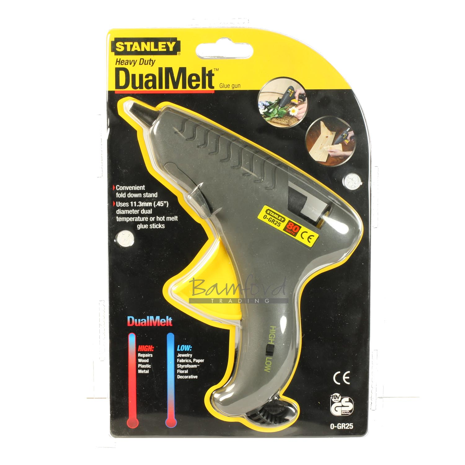 Stanley 0-GR25 230V Heavy-Duty 80W Dual Melt Hot Glue Gun Mains Powered Craft Enlarged Preview