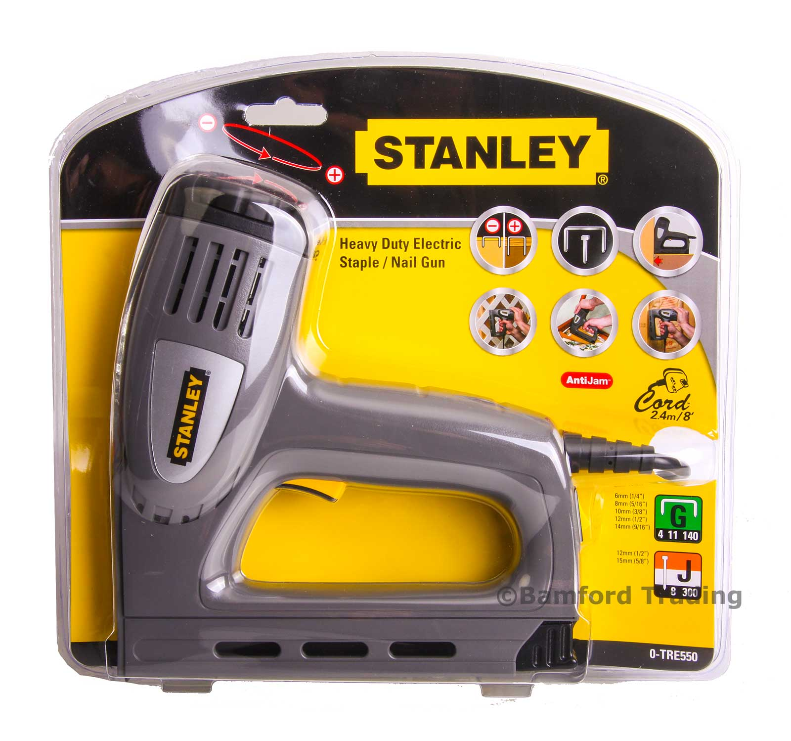 Stanley Electric Staple And Nail Gun With Anti Jam Feature
