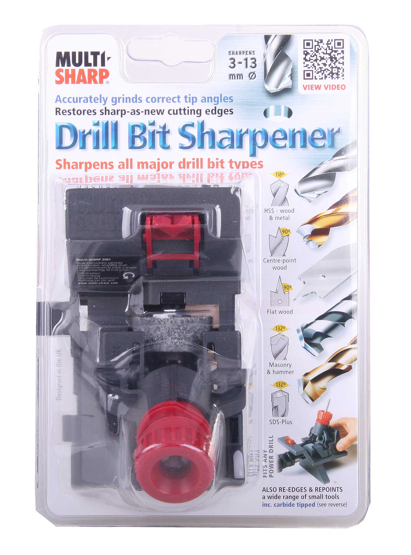 Multi-Sharp Drill Bit and Tool Sharpener Sharpening Chisel Re-Edger Resharpener