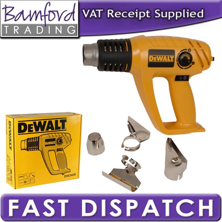 Dewalt 2000w heat gun and tools hot air for paint remover for Heat gun to remove paint