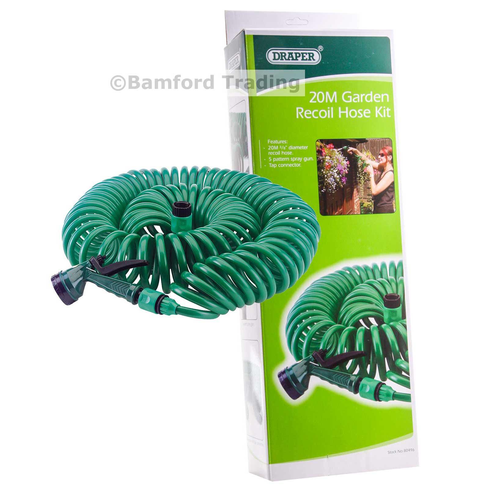Draper 80496 GCH1 20M Coiled Garden Hose Kit Draper 80496 GCH1
