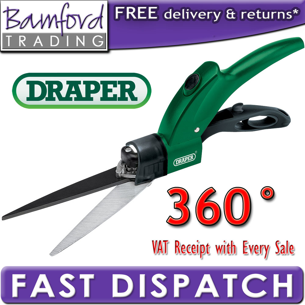 NEW DRAPER SWIVEL GRASS LAWN GARDEN HEDGE SHEARS CUTTER Enlarged Preview
