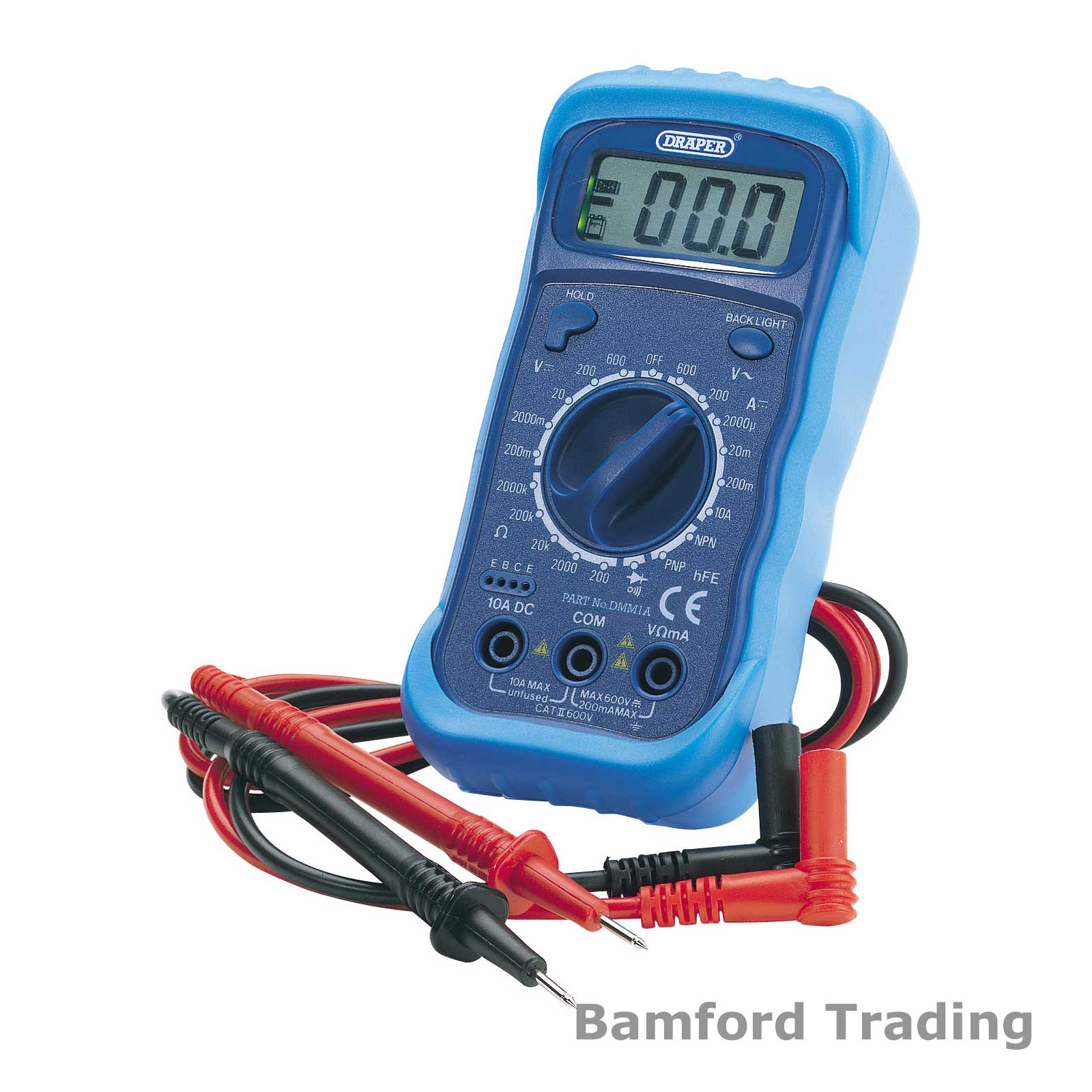 Electrical Meter Testers : Draper dmm a digital multimeter with light