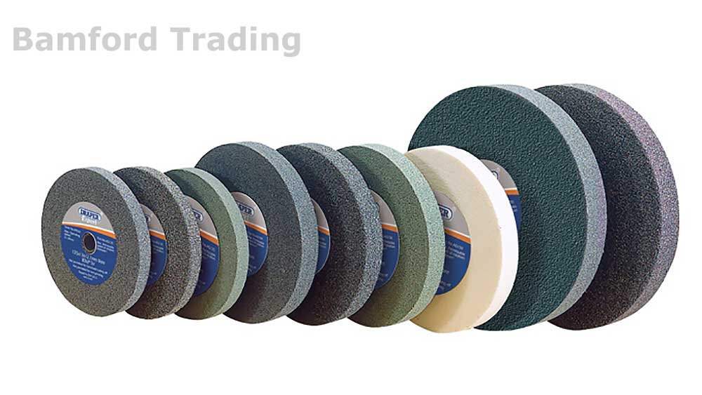 Draper Expert Quality Grinding Wheels for Bench Grinders Tool Sharpening Discs