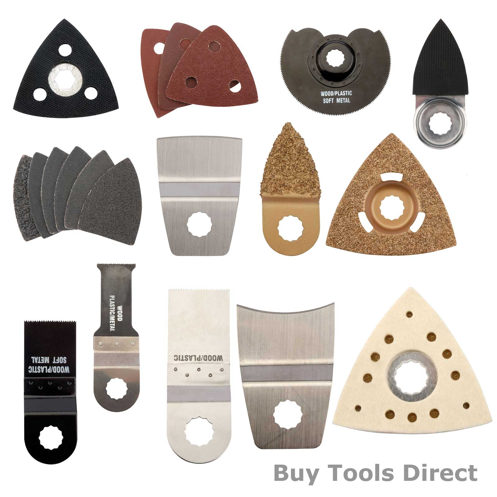 Draper 31328 Oscillating Multi Tool Accessories Wood Saw Blade Scraper Rasp etc.
