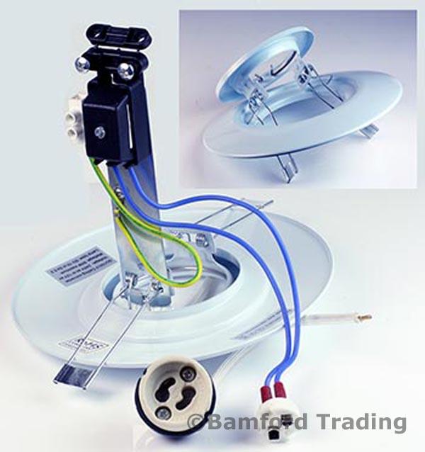spotlight downlight hole converter plate kit with warm white gu10 cob led bul. Black Bedroom Furniture Sets. Home Design Ideas