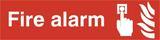 Fire Alarm Self Adhesive PVC Sign (200 x 50mm)