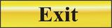 Exit Polished Gold Effect Self Adhesive Laminate Sign (200 x 50mm)