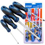 Draper 09783 865/5 Screwdriver Set Soft Grip 5 Piece