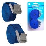 Silverline 449682 2 Piece Cam Buckle Tie Down Straps 2.5m x 25mm