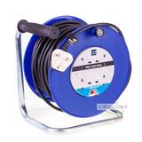 Masterplug 4 Gang 40m Mains Cable Extension Reel Heavy Duty Lead Blue Electrical