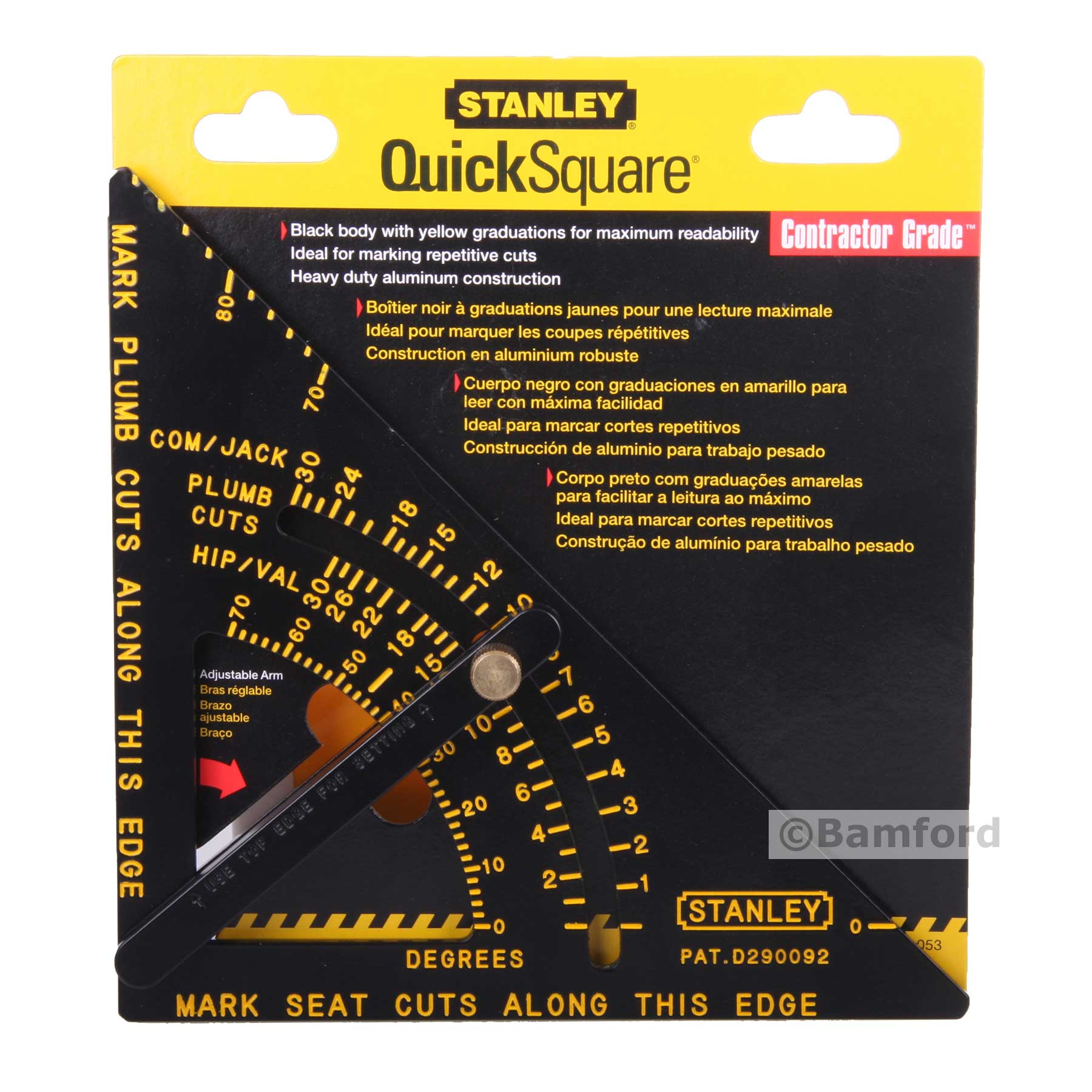 Stanley Adjustable Quick Roofing Square Rafter Saw Guide