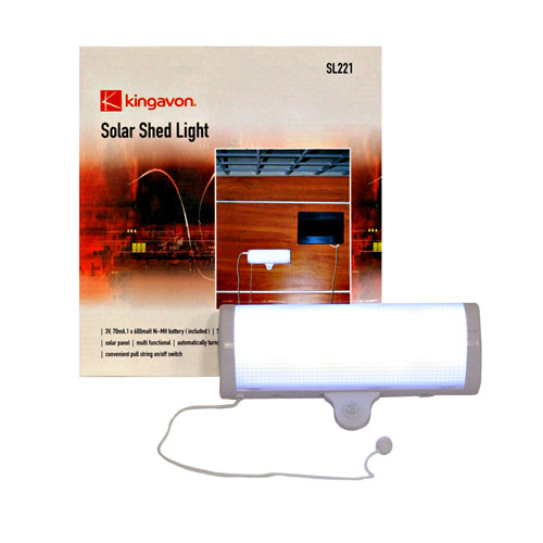 SWITCHABLE LED SOLAR POWER SHED GREENHOUSE GARAGE LIGHT
