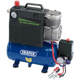 Draper 32815 DA5/100 5L 12V 0.4kW Portable Oil Free Air Compressor
