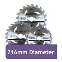 216mm Diameter Circular Saw Blades
