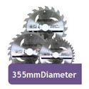 355mm Diameter Circular Saw Blades