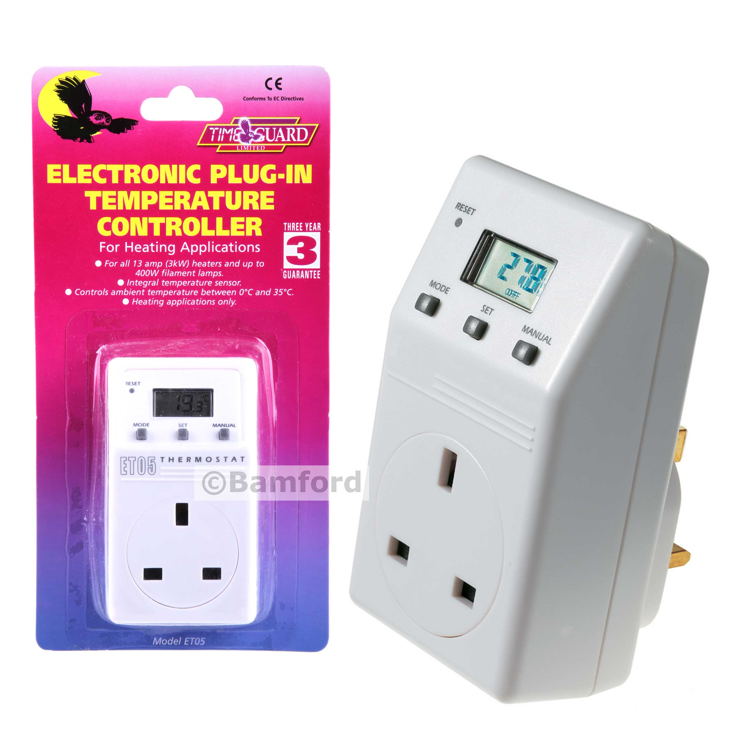 Timeguard ET05 Plug in Electronic Thermostat Timeguard ET05 Plug in  #C7BE04