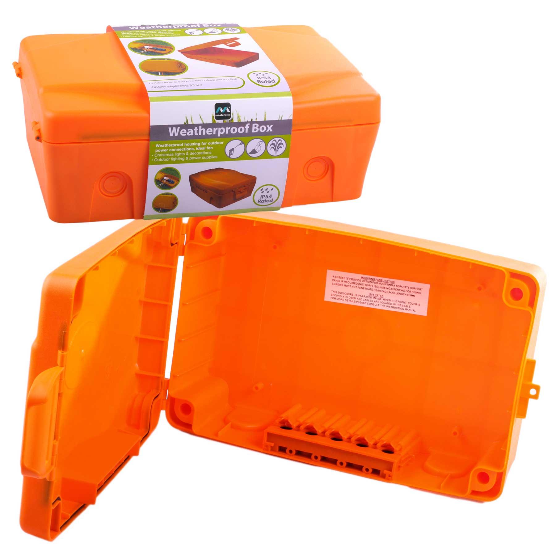 Masterplug Weatherproof Junction Box Outdoor Electric Power Connection Enclosure Ebay