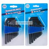 Silverline HK11 - HK19 Metric & Imperial Hex Key Set