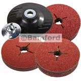 Silverline 941859 115mm Rubber Backing Pad & 30 Fibre Discs for Polishers