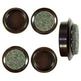4 x Brown Felt Backed 44mm Furniture Cups to Protect Floors