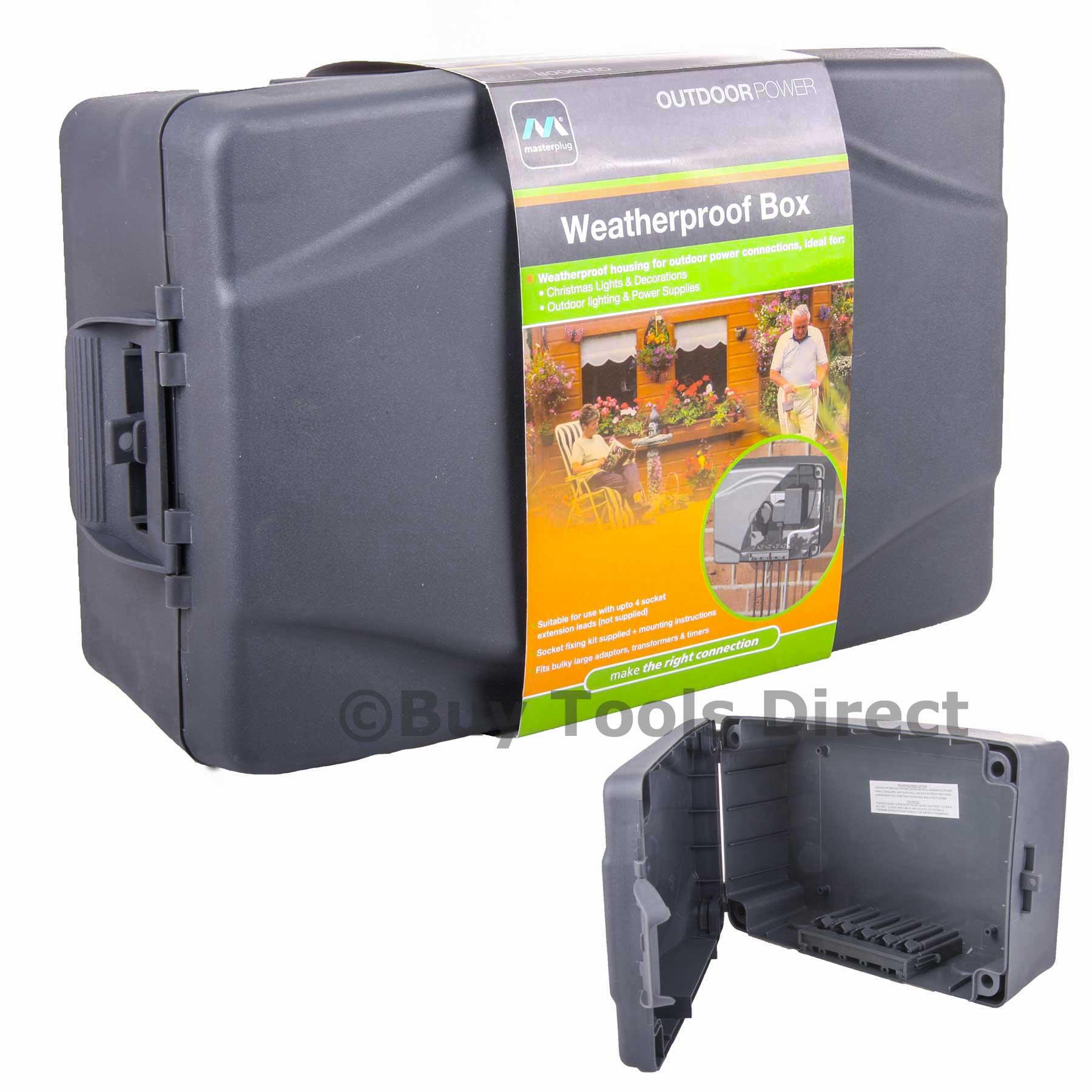 Masterplug Waterproof Junction Box Outdoor Electrical Power Connector Enclosure Ebay