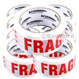 8 Rolls of FIXMAN 191480 'Fragile' Packing Tape 48mm x 66m