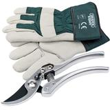 Draper 36544 Deluxe Bypass Secateur & Mens Leather Gardening Gloves