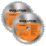 Evolution Rage 185mm Replacement Multipurpose Blades (Pack of 2)