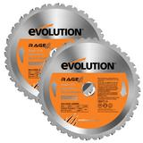 Evolution Rage 210mm Replacement Multipurpose Blades (Pack of 2)