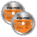 Evolution Rage 230mm Replacement Multipurpose Blades (Pack of 2)