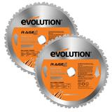 Evolution Rage 255mm Replacement Multipurpose Blades (Pack of 2)