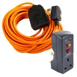 Masterplug BOG10O-MP 10M Garden Extension Lead With RCD Adaptor