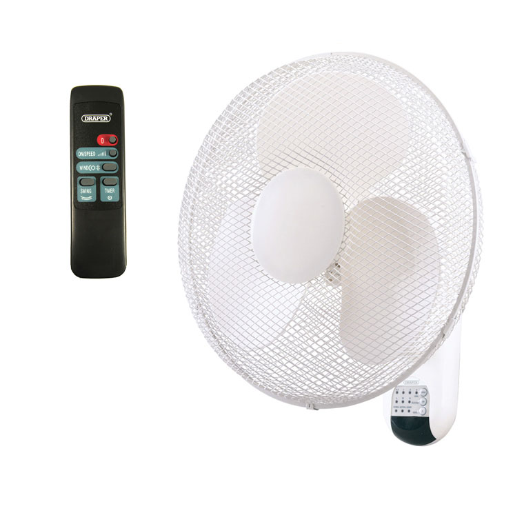 Wall Mounted Fans With Remote Control : Draper quot wall mounted remote control fans ebay