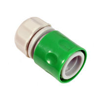 "Silverline 598479 Hose Connectors 1/2"" Green Single"