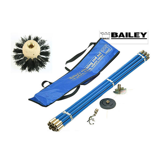 Product image for Bailey Drain Rod and 6 Inch Chimney Flue Cleaning Set In Carry Bag