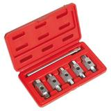 Sealey AK659 Oil Drain Plug Key Set Double End (6 Piece)