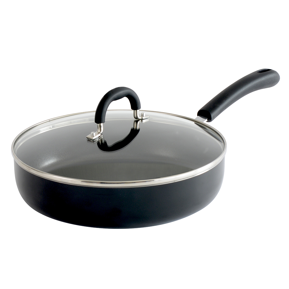 procook non stick saute pan with lid dishwasher oven safe pots pans ebay. Black Bedroom Furniture Sets. Home Design Ideas