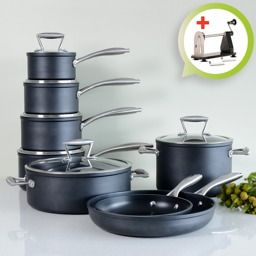 Induction Cooktop Cookware ~ Procook forged non stick induction cookware set pots and