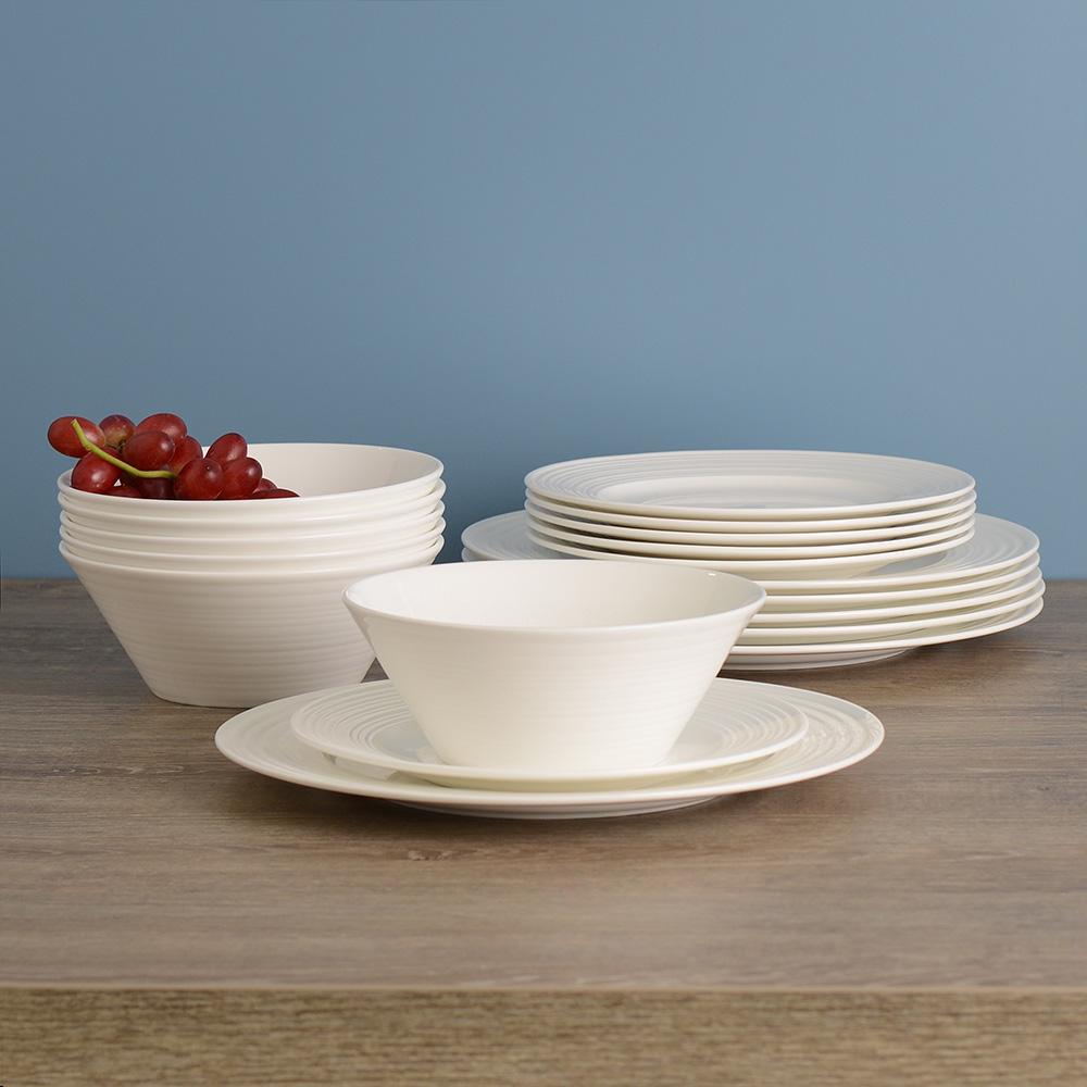brand new free delivery procook harrogate bone china 18 piece dinner set ebay. Black Bedroom Furniture Sets. Home Design Ideas