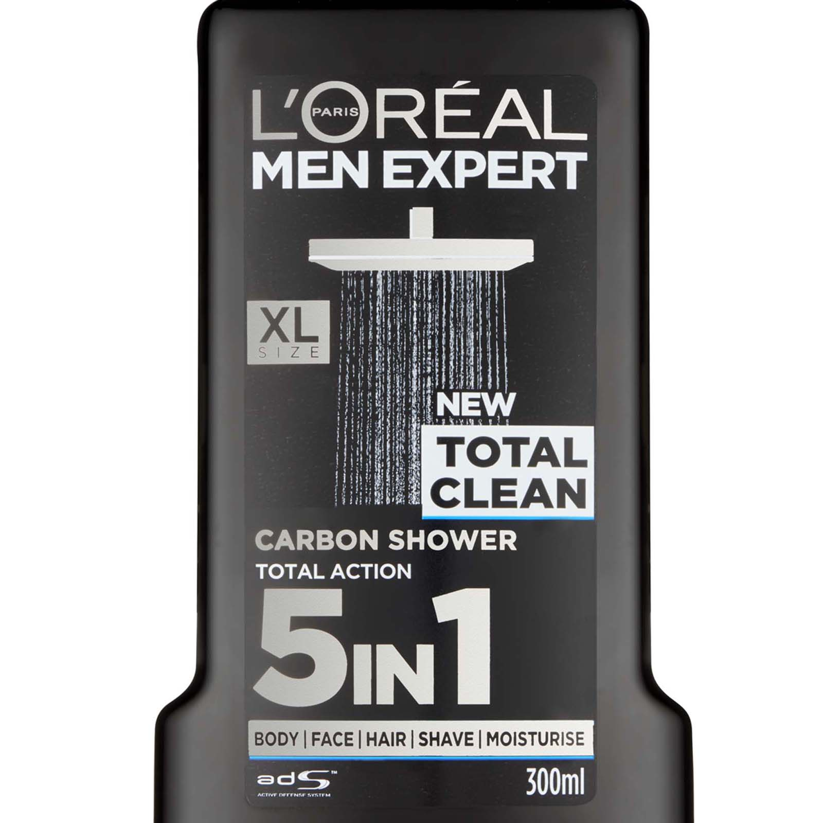 6 x l 39 oreal men expert total clean shower gel 300ml for face body hair ebay. Black Bedroom Furniture Sets. Home Design Ideas