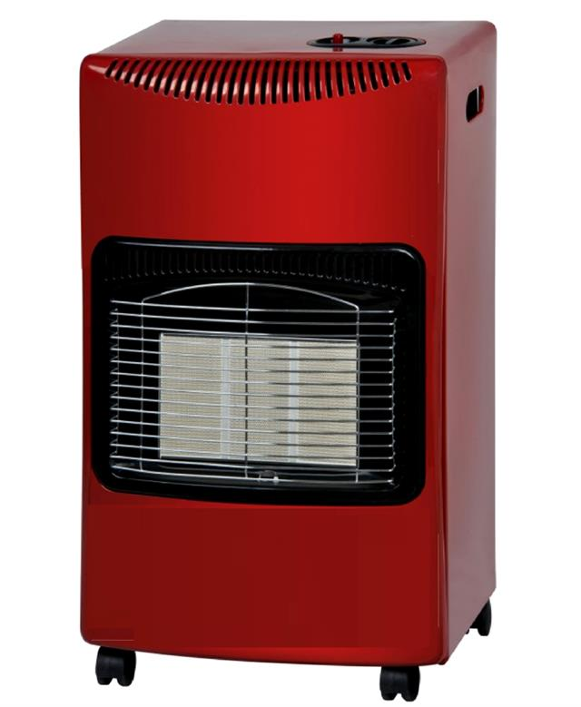 red 4 2kw portable fire calor gas heater lpg cabinet. Black Bedroom Furniture Sets. Home Design Ideas