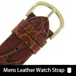 Mens Leather or Exotic Watch Bands